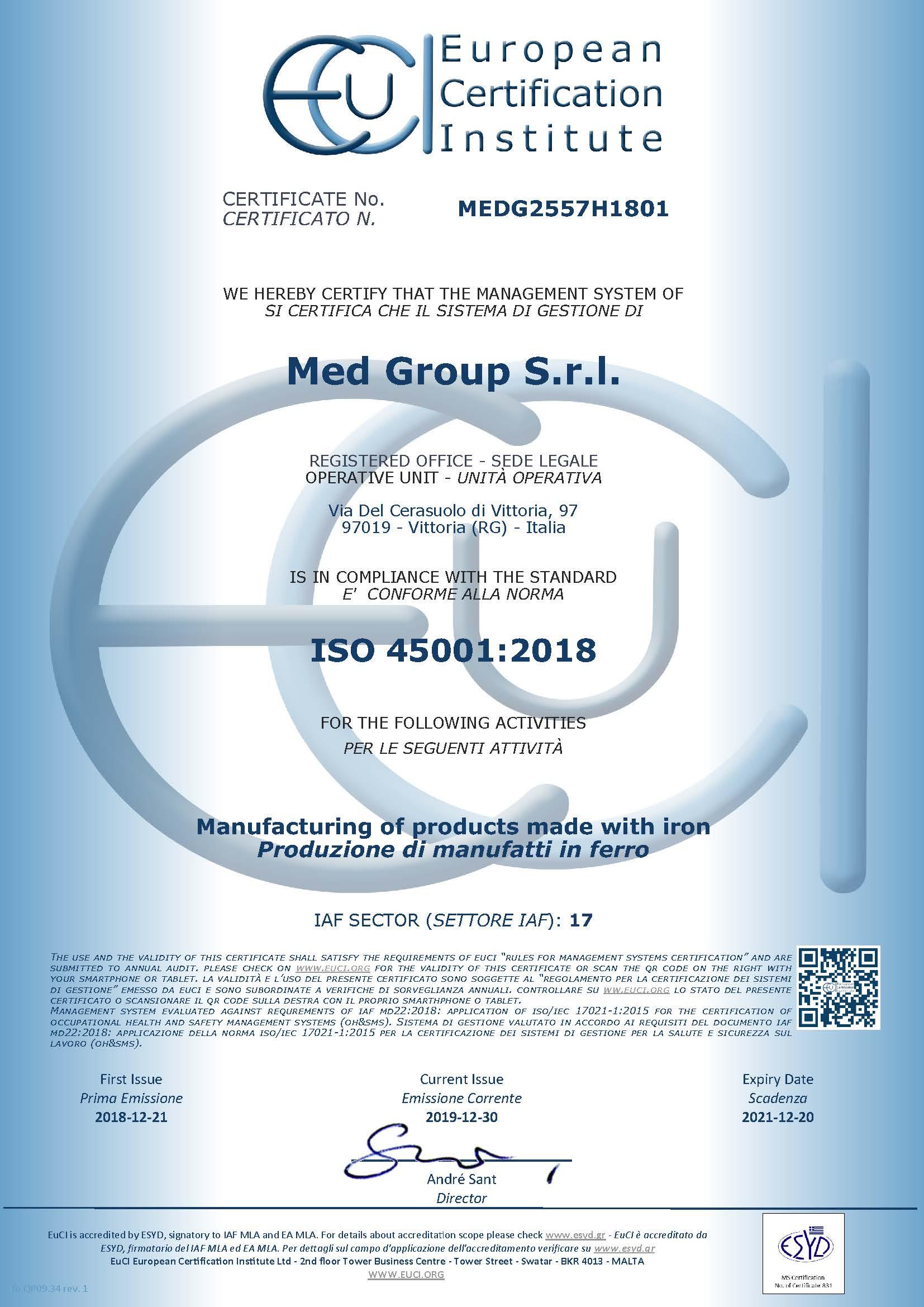 MEDG2557H1801 certificate release 20191230